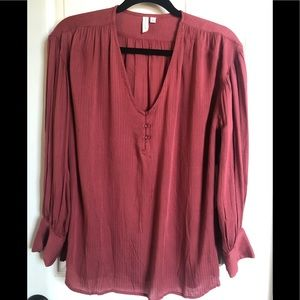 Treasure & Bond V Neck Oversized Blouse